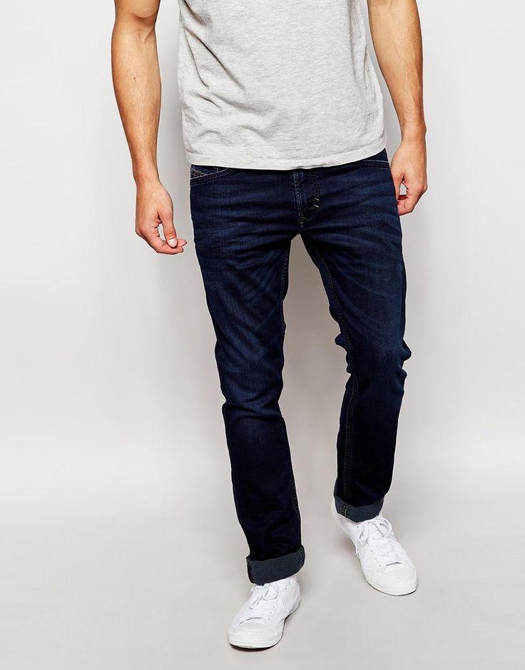 Image 1 ofDiesel Jogg Jeans Thavar 842W Skinny Fit Stretch Dark Wash
