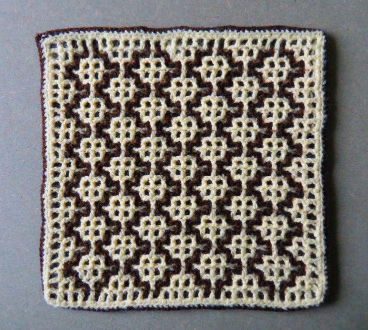 Intermeshing – Double Filet Crochet (AKA Interlocking crochet) I had a vague memory of a design I used many years ago, during my table mat phase, based on a diamond shape (which I quite like). Whil…