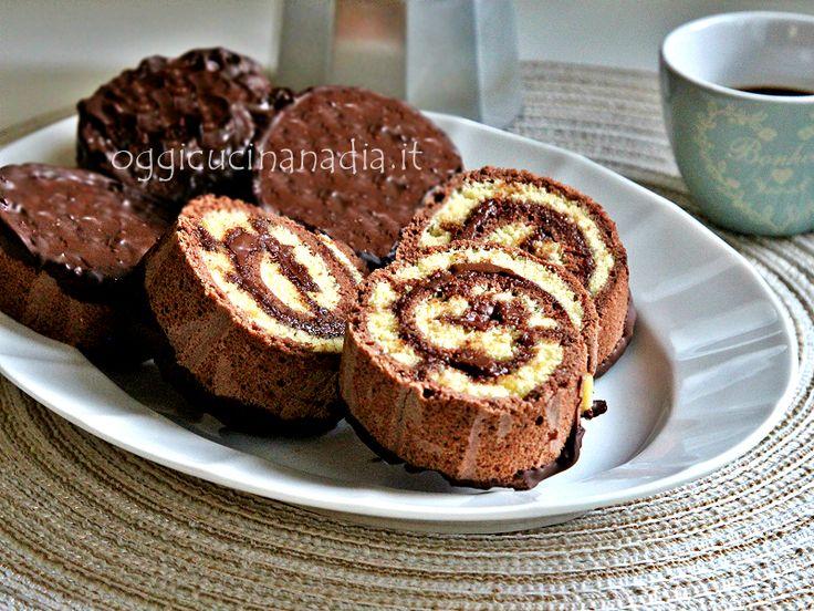 Girelle dolci al cioccolato ... chi di voi ricorda le famose merendine a rotella che allietavano le nostre colazioni o merende da bambini? Io ho provato a rifarle e mi sono venute praticamente uguali, provatele…