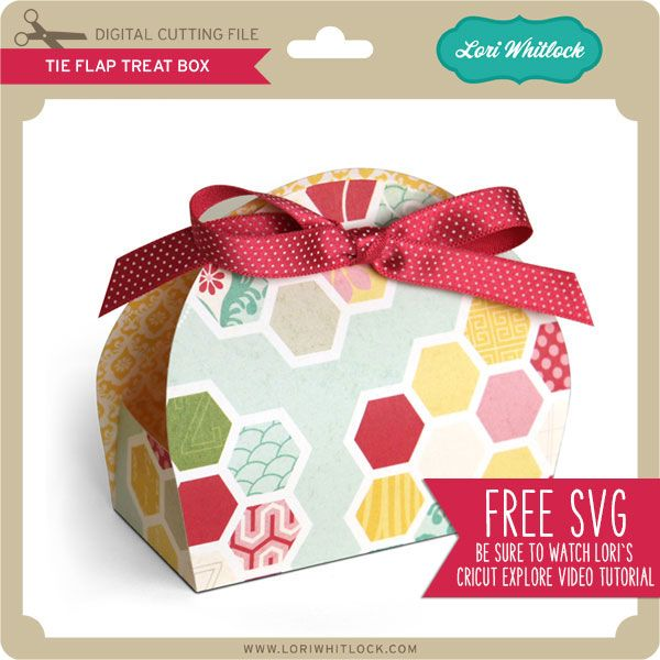Tie Flap Treat Box I'd like to give you a sample of what my 3D SVG files look like in my ONLINE SHOP. This way you can follow along with me in my Cricut Explore Tutorial and try opening and cutting...