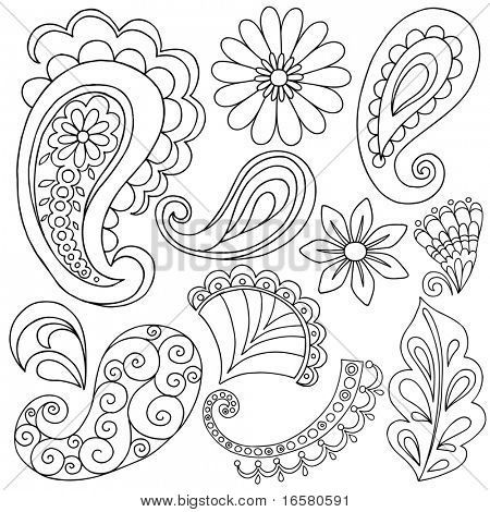 paisley coloring pages peace - photo#41