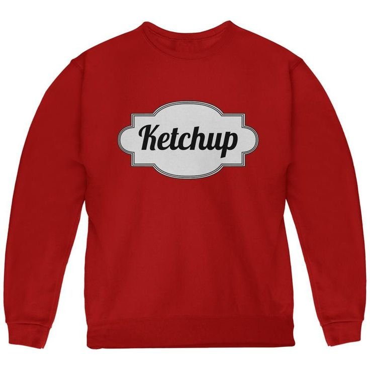 Halloween Ketchup Costume Red Youth Sweatshirt