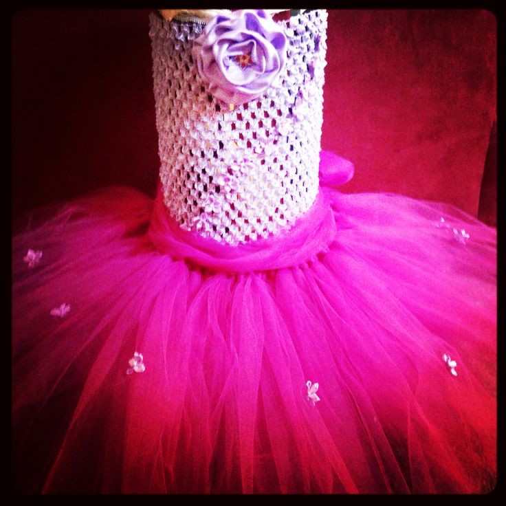 Tutu rosette couture dress ~ made by me