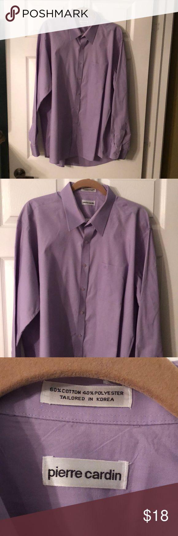 Vintage Pierre Cardin Shirt Beautiful pale lavender men's Pierre Cardin shirt in excellent condition. Pierre Cardin Shirts Casual Button Down Shirts