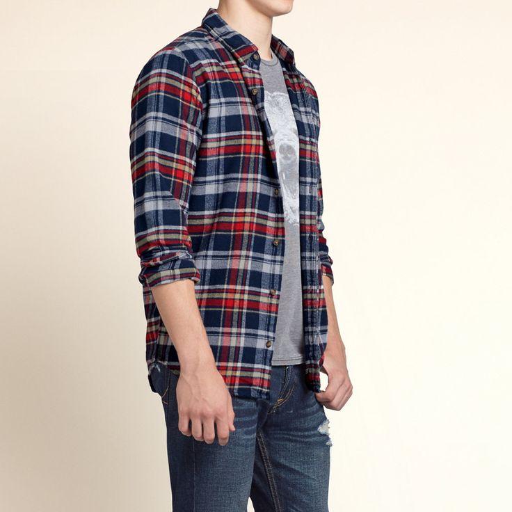 Gars - Broad Beach Classic Fit Flannel Shirt   Gars - Hauts   eu.HollisterCo.com