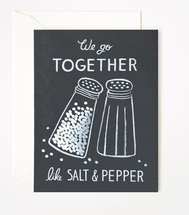 Valentines for Foodies: Salt & Pepper card from Rifle Paper Company ...