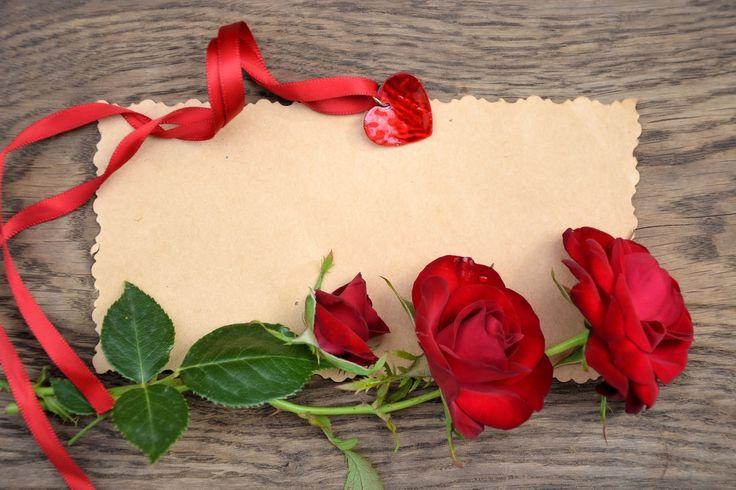 Розы День святого Валентина Шаблон поздравительной открытки Цветы
