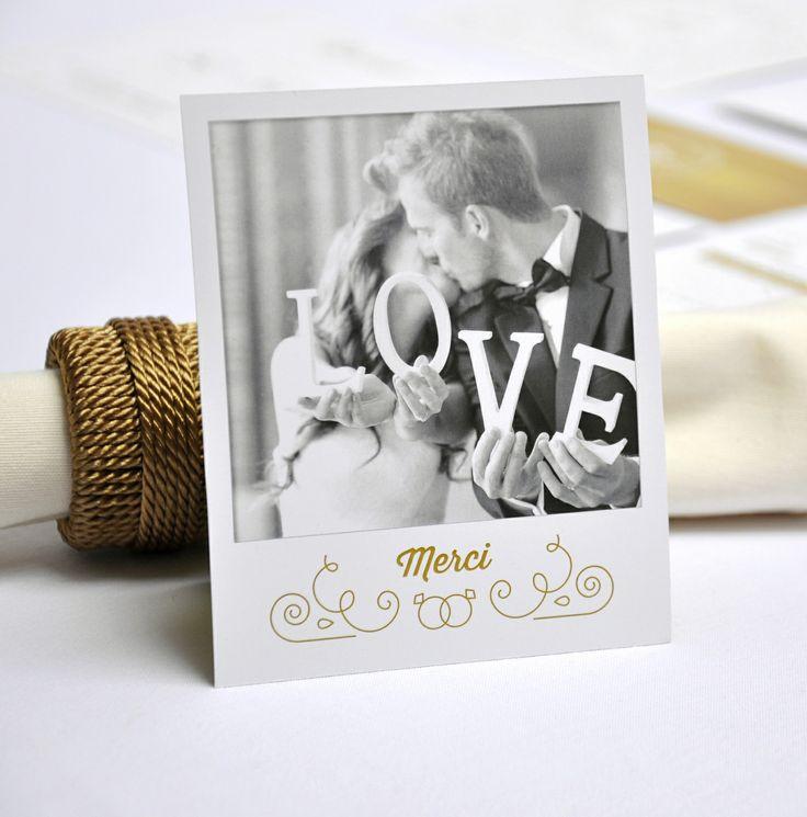 Remerciement par printyourlove ! #Mariage #Idées #Merci