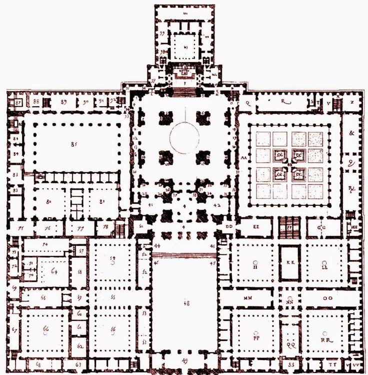Planta del escorial  HISTORY OF ART. Real Monasterio de San Lorenzo de El Escorial   Storehouse of Memory