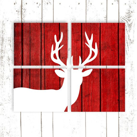 Hey, I found this really awesome Etsy listing at https://www.etsy.com/listing/175172058/deer-art-deer-prints-red-wood-background