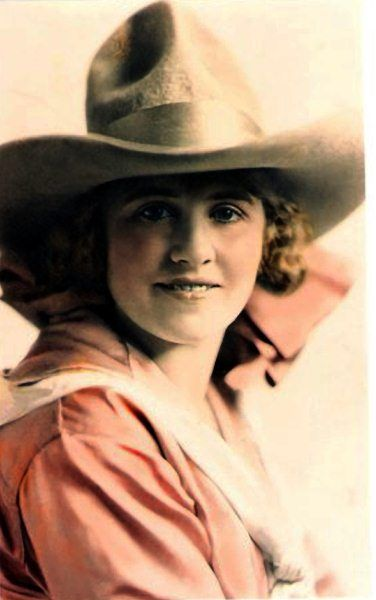 Ruth ROACH, a professional bronc rider, and world champion rodeo performer and Wild West Show star. Bronc riding was her favorite event, although she performed and won many other championship titles.