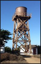 Water Tower Cell Site Concealment project we did in San Simeon, CA. It looks like a water tower (which was the intent) but it holds no water instead it is concealing RFTC elements for a cell site.