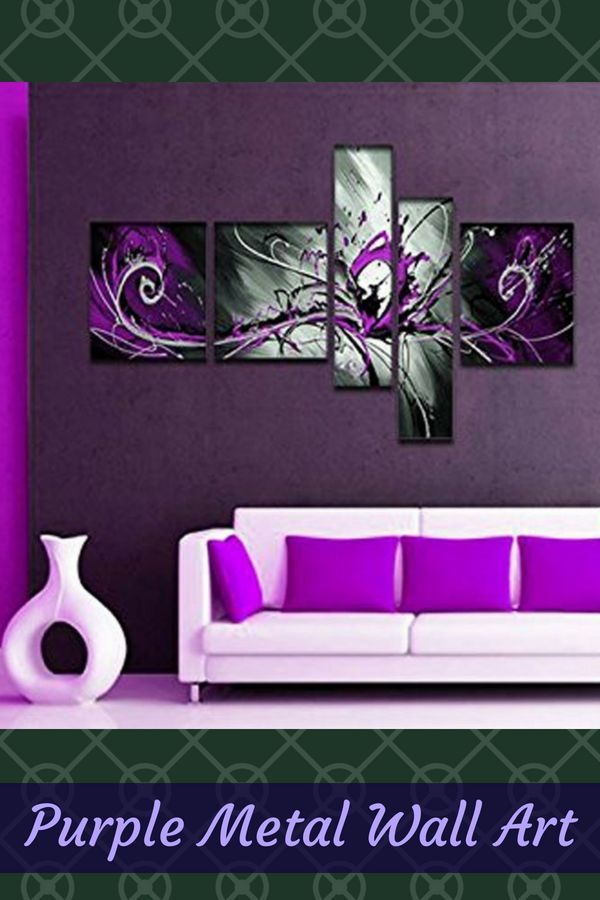 Inspiring Cute And Trendy Purple Wall Art Purple Wall Art Purple Walls Purple Wall Decor