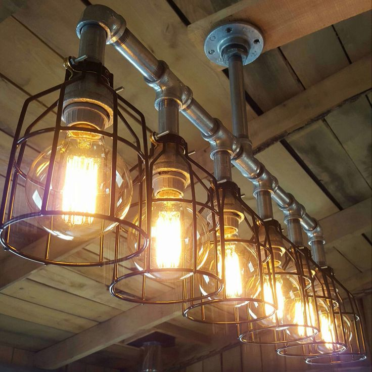 check out our rustic galvanized chandelier