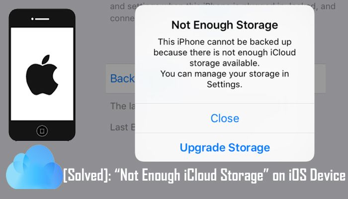 Solved Not Enough Icloud Storage On Iphone Ipad Ipod Touch Kids Cell Phone Icloud Recovery Blog