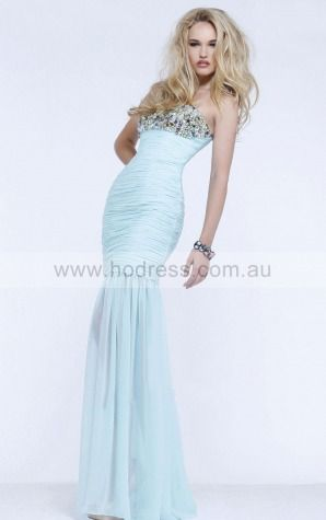 Sleeveless Zipper Sweetheart,Strapless Floor-length Chiffon Evening Dresses claa1143--Hodress