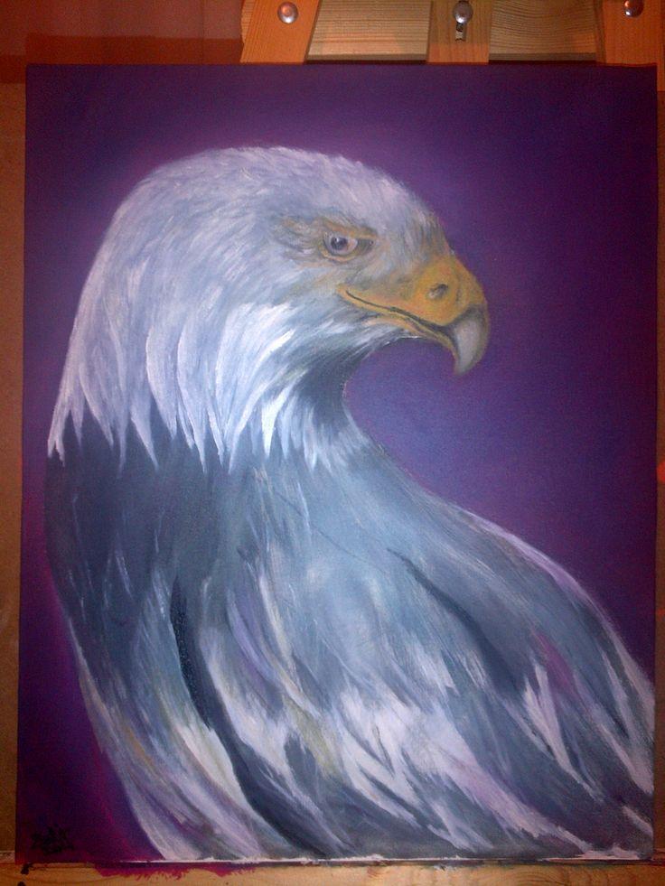 Yağlı boya-Kartal..Oil paint-Eagle..-BURSA