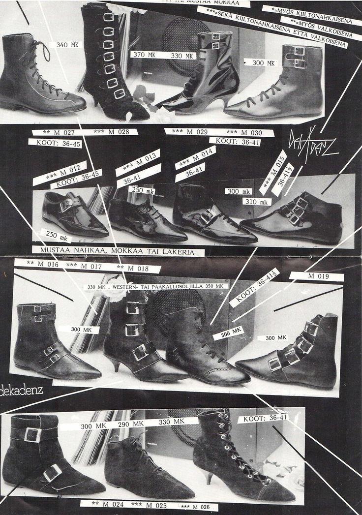 nowthisisgothic:  Dekadenz Mailorder, Finland, mid 80s [scans viaKiiimm's tumblr]