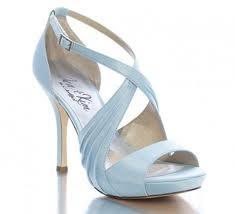 Powder blue bridesmaid shoes make a soft statement.