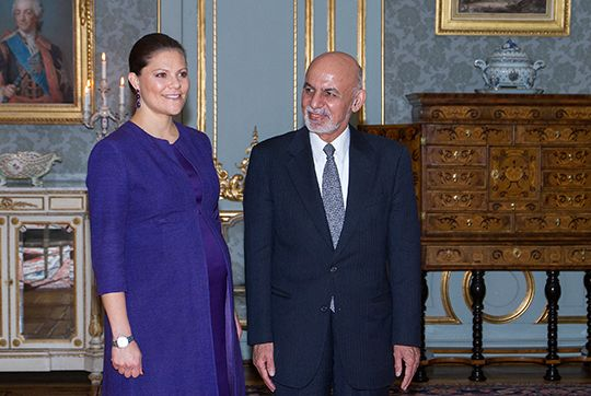 Kronprinsessan tog emot Afghanistans president - Sveriges Kungahus