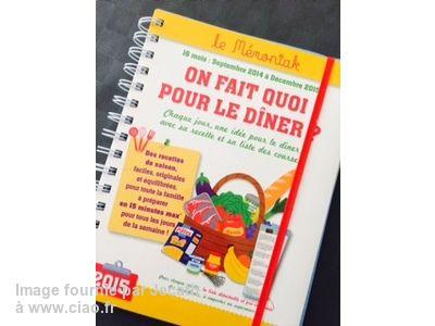 """Avis sur le livre """"Mémoniak 2015-2016 : On fait quoi pour le dîner ? - Collectif"""" par Jecath"""