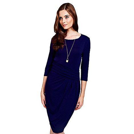 HotSquash Long sleeved midnight blue knee length dress | Debenhams