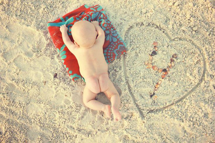 Newborn photography | infant | beach bum baby                              …
