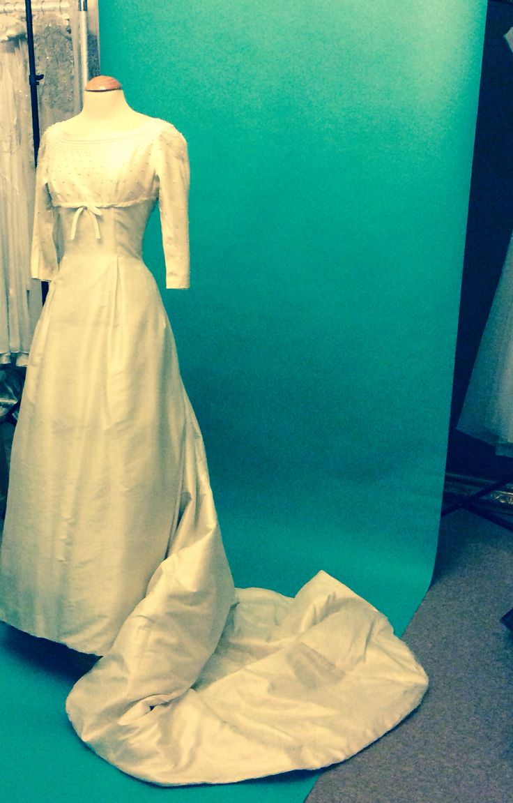 1960\'s silk wedding gown from Harrods London Elizabeth Avey ...