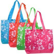 bulk luauthemed tote bags at