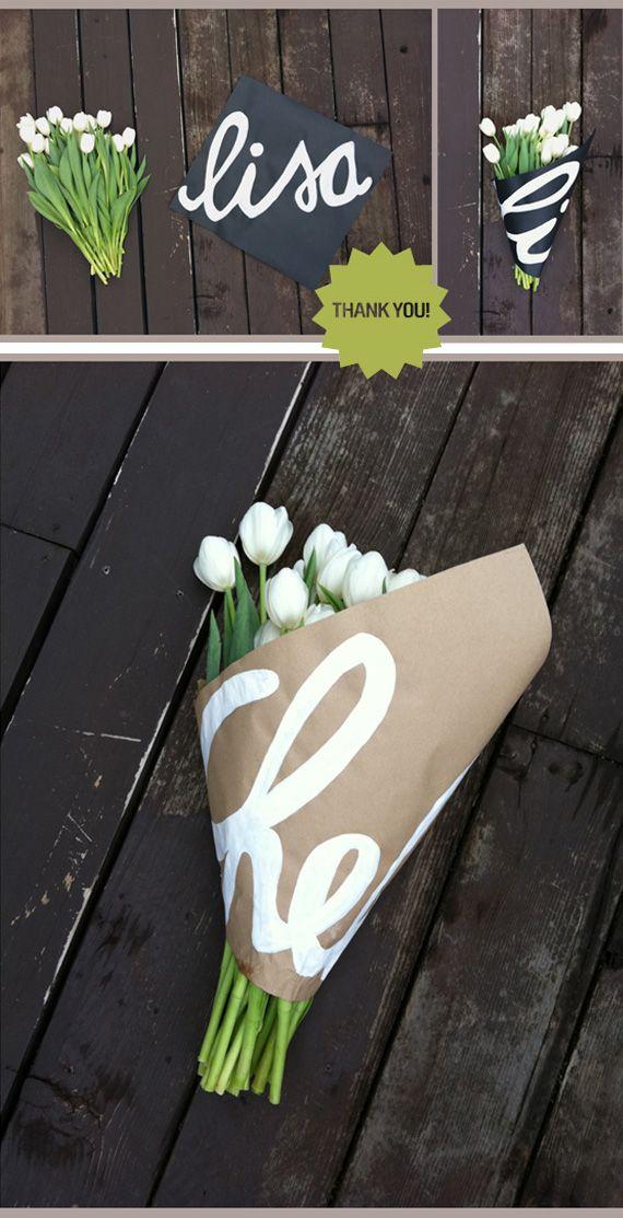 DIY: flower wrap.