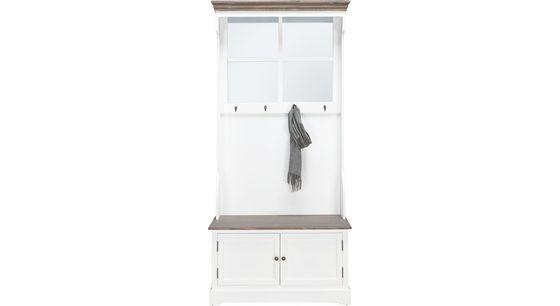 Garderobe Cookie - Weiß, Glas/Holz (88/142/48cm) - PREMIUM LIVING
