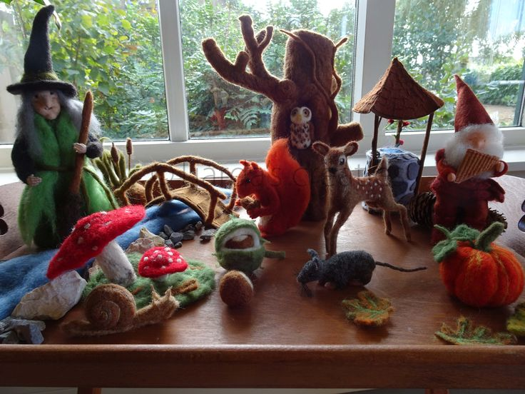 Herfst tafel naaldvilten seizoenstafel