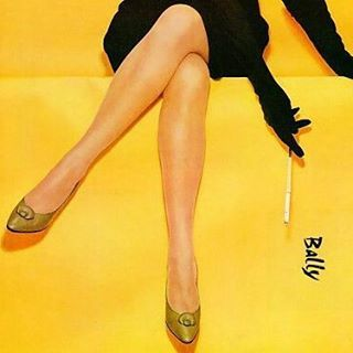 "modernizor: ""Bally shoes advertising poster #Bally #ad #legs #poster #yellow #black #50s #fashionbrand #stylish #smoking #womanshoes #Modernizor #inspiration #weekendiscoming #icon #gloves #classic #advertisement # """