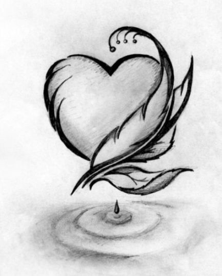70 Ideas Drawing Ideas Pencil Easy Heart Drawing