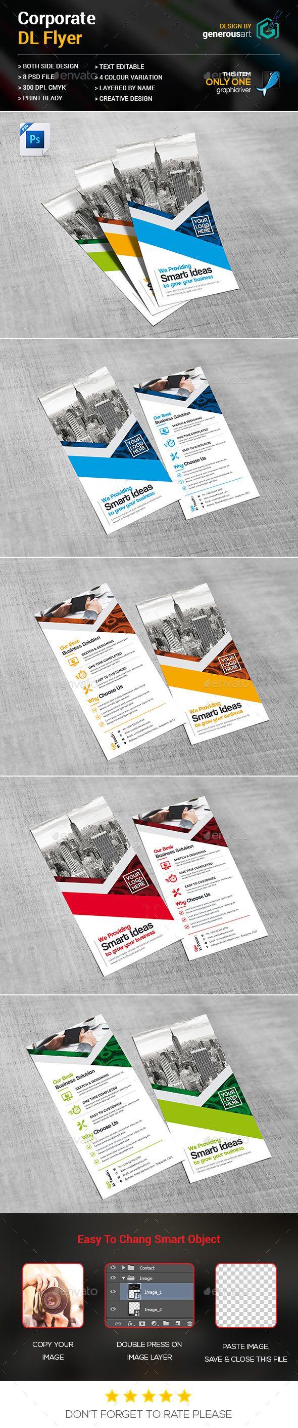 DL Flyer Template PSD