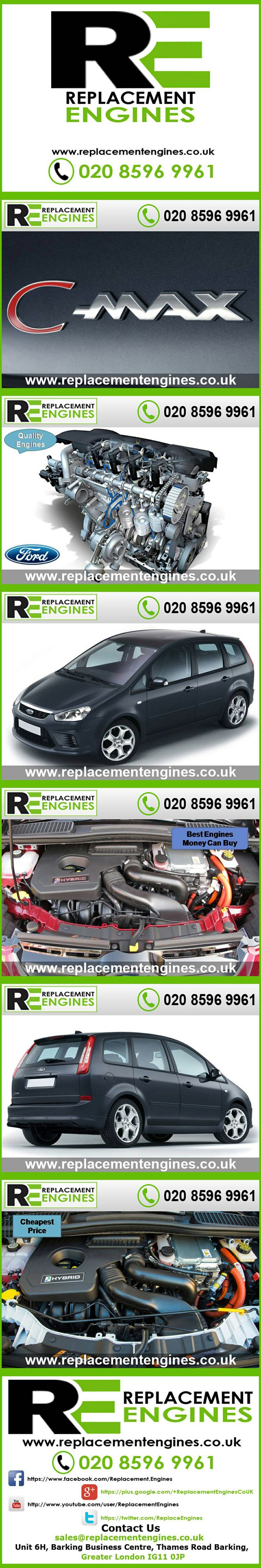 Ford C-Max Engines for sale at the cheapest prices, we have low mileage used & reconditioned engines in stock now, ready to be delivered to anywhere in the UK or overseas, visit Replacement Engines website here.  http://www.replacementengines.co.uk/car-md.asp?part=all-ford-cmax-engine&mo_id=32156