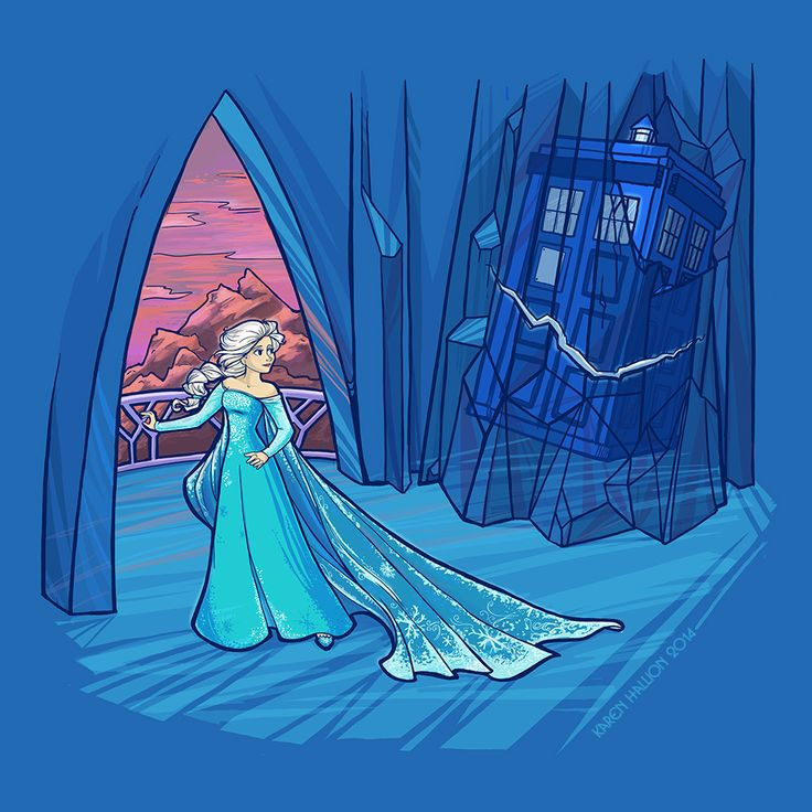Frozen in Time and Space | by khallion @ DeviantART.com // crossover; doctor who; disney; frozen