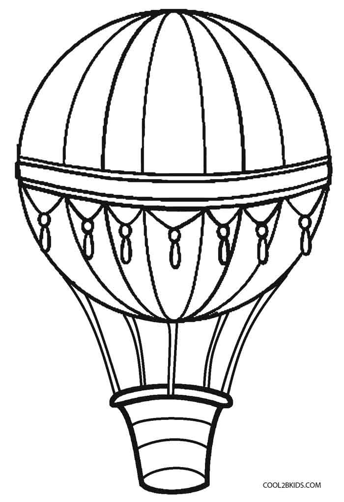 This is an image of Remarkable Hot Air Balloon Template Printable