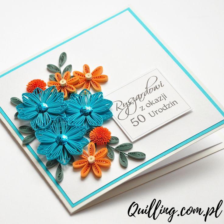 quilling, husking, DIY, handmade,greeting card, birthday, paperart, quilling.com.pl