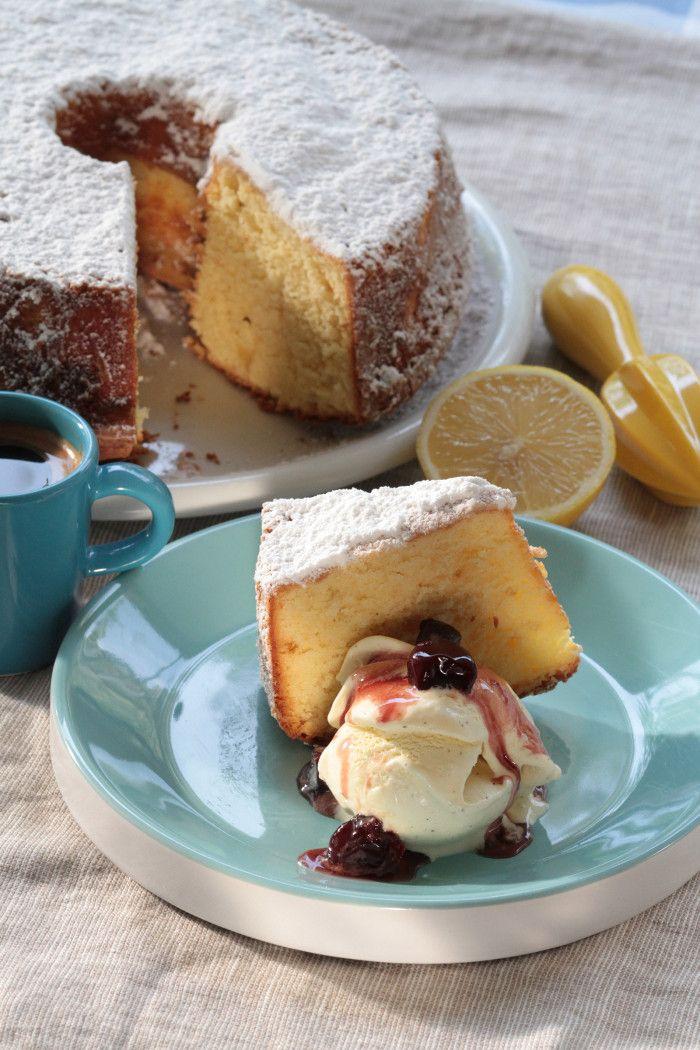 Lemon Cake with Greek Yogurt, Olive Oil & Honey