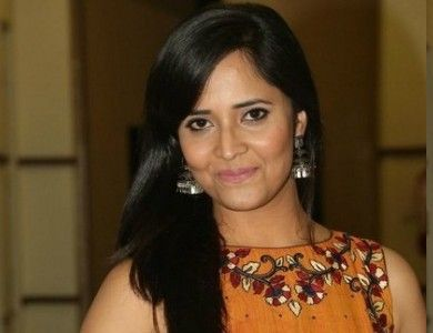 Anasuya in Kalamkari skirt and crop top