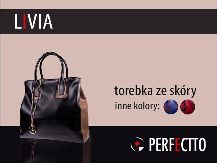 ✪✪✪ LIVIA: torebka ze skóry od Perfectto, która cieszy się dużą popularnością: http://www.perfectto.eu/index.php?route=product/category&path=75_68 :) Rozmiar: duża. Kolory: czarny/jasnobrązowy, niebieski/czerwony, czerwony/czarny