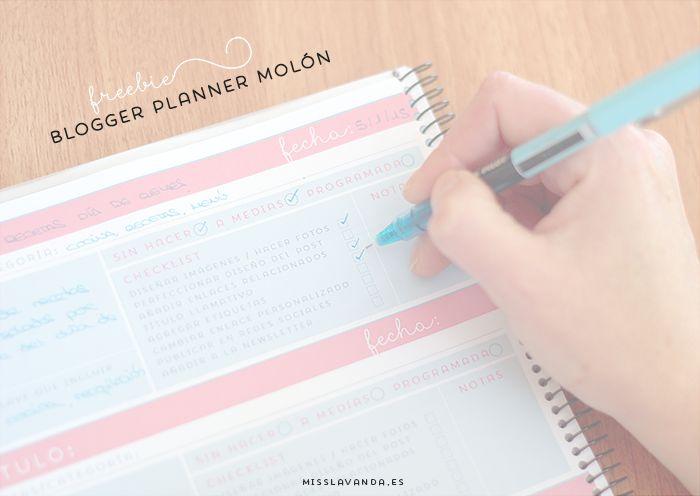 Freebies: blogger planner bien completo para descargar