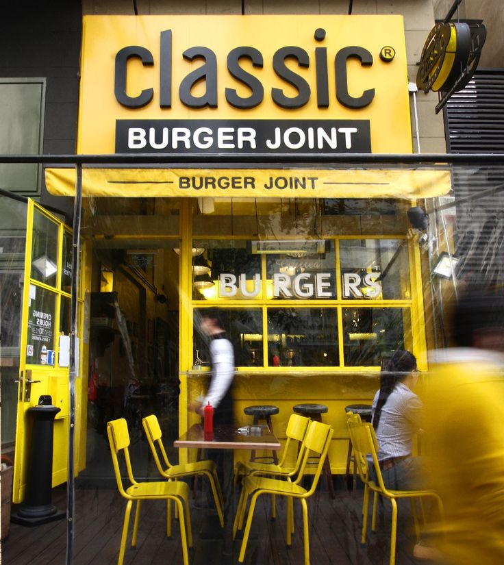 Fast Food Restaurant Interior Design – Classic Burger Joint » Decodir