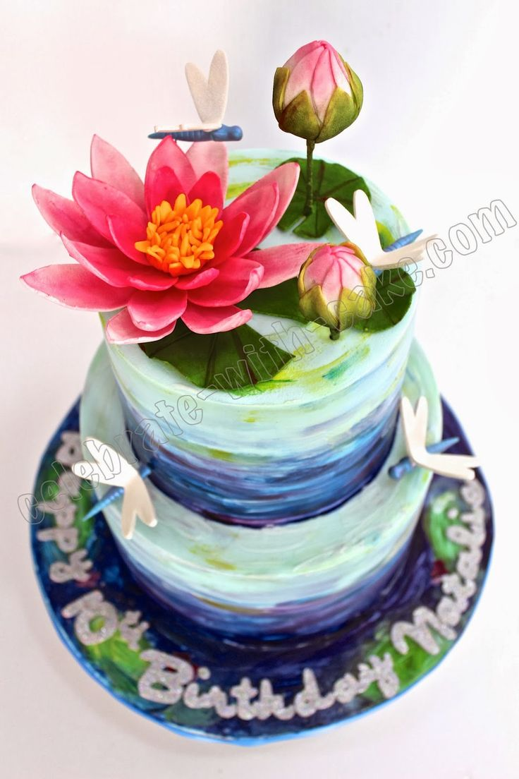 Celebrate with Cake!: Lotus themed 2 tiers
