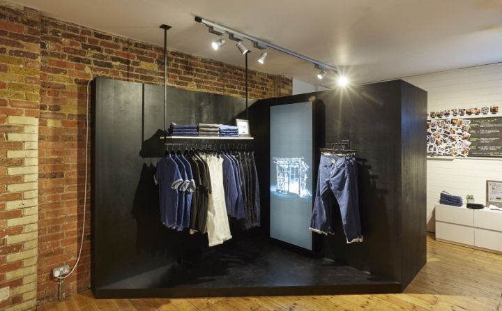 Levi S Line 8 Pop Up Shop On Charlotte Road By Formroom London Uk Pop Up Denim Conceptstore