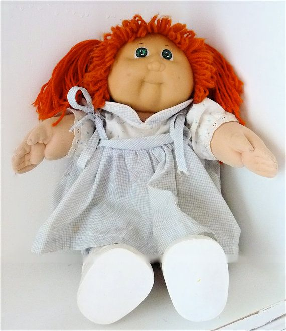 1980s Cabbage Patch Doll Orange Pigtails Toys Cabbages