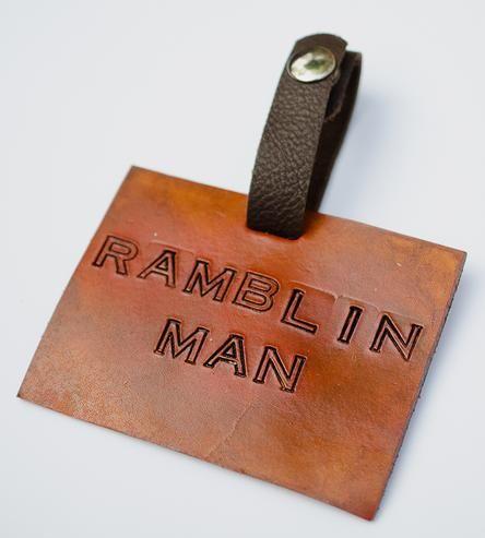 Ramblin' Man Leather Luggage Tag