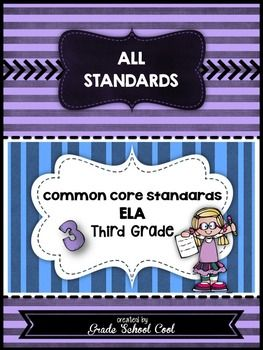 Common Core ELA Assessments Grade 3 (ALL STANDARDS PACK)*Common Core*Common Core Graphic Organizers*Common Core ELA*Common Core ELA…