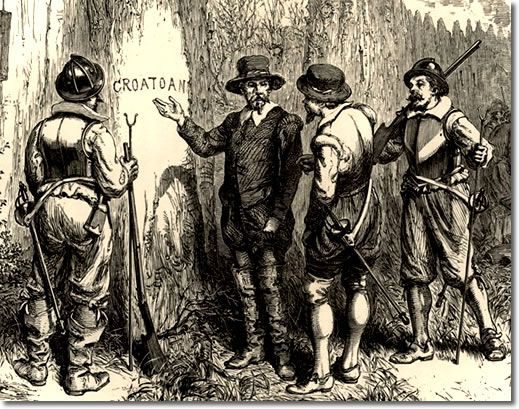 Croatoan, unexplained letters found in 1590 carved on a tree on Roanoke Island off North Carolina by Governor John White when he returned to the colony from England and discovered the colonists gone. White took the letters to mean that the settlers had moved to Croatoan Island some 50 miles away, but no trace of them was ever found.